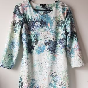 H&M Watercolor Bodycon Dress